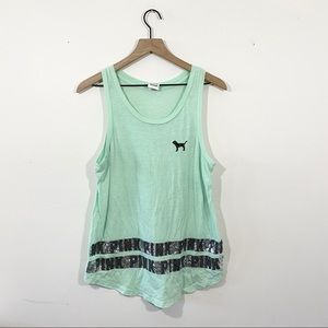 VS PINK Sequin Tank Top Size M